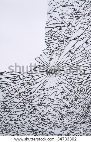 broken window 3 - stock photo