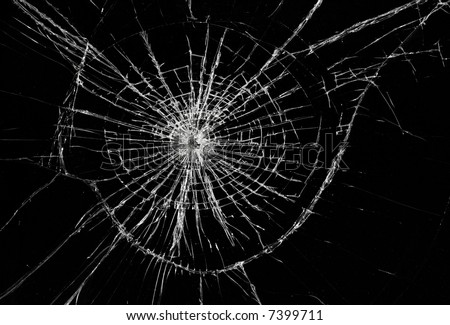 Broken Window, Background Of Cracked Glass Stock Photo 7399711 ...