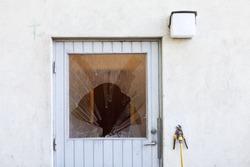 Broken Window on a door