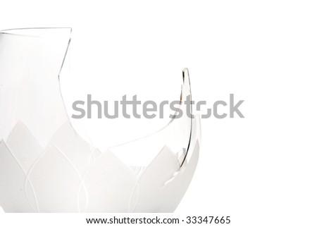 Broken Wine Glass - stock photo