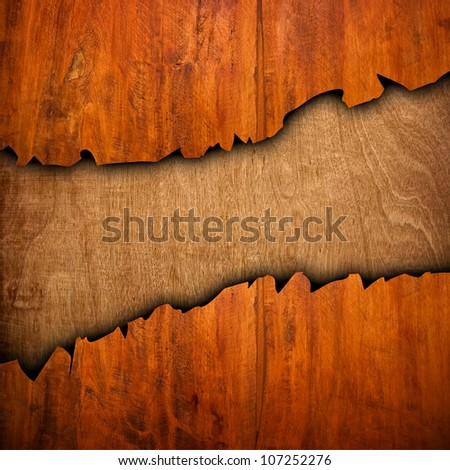 broken wood board