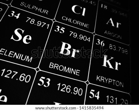 Bromine on the periodic table of the elements