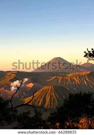 Bromo in the Morning after sunrise