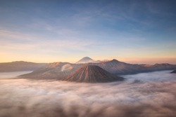 Bromo montain close-up