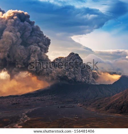 Bromo Volcano at East Java in the eruption time, Indonesia.