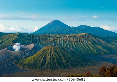 Bromo volcano at sunrise, Java, Indonesia