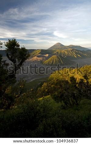 Bromo volcano valley - stock photo