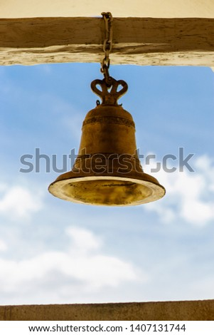 Bronze bell from Leon Cathedral in Nicaragua to call catholic celebrations