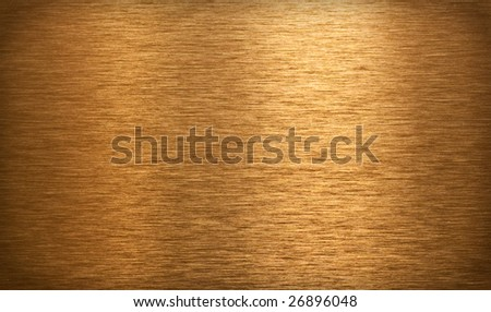 Bronze brushed plate or texture