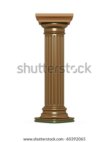 Bronze Column - stock photo