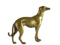 Bronze Greyhound on white background