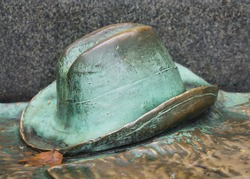 bronze hat