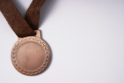 bronze medal on the white background