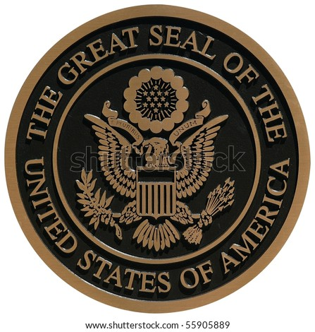 bronze plaque the great seal of the united states