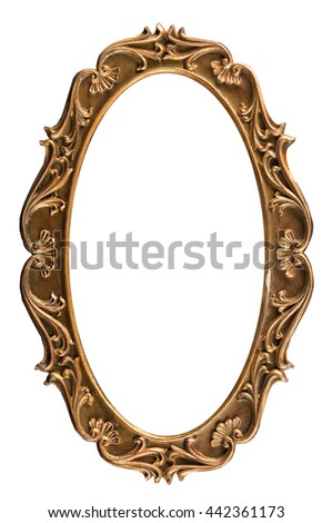 A Picture Frame Isolated On White Background Ez Canvas