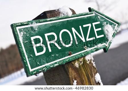 BRONZE road sign