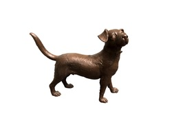Bronze sculptures shaped dog