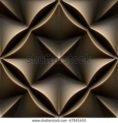 bronze seamless tileable decorative background pattern - stock photo