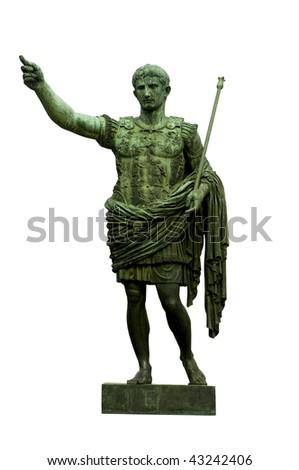 Shutterstock Bronze statue of emperor Caesar Augustus on Via dei Fori Imperiali, Rome, Italy