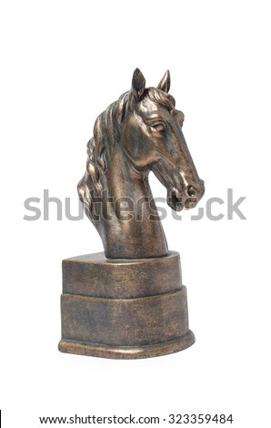 Shutterstock bronze statuette of a horse isolated on white