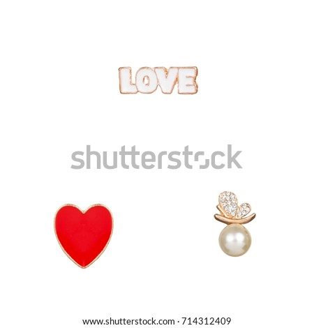 Brooches for clothes set love heart  #714312409