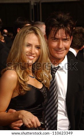 Brooke Mueller and Charlie Sheen arriving at the 59th Annual Primetime Emmy Awards. The Shrine Auditorium, Los Angeles, CA. 09-16-07