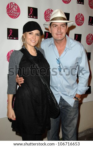 Brooke Mueller and Charlie Sheen at the Legendary 6th Annual Best in Drag Show Orpheum Theater Los Angeles CA 10-19-08