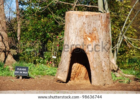 Brookeside Garden Park Playground with a Tree Hollow Trunk, Maryland USA