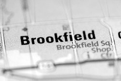 Brookfield on a geographical map of USA