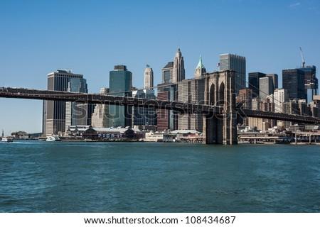 Brooklyn Bridge and Downtown Manhattan as seen from Brooklyn