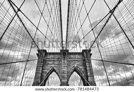 Brooklyn Bridge Black & White