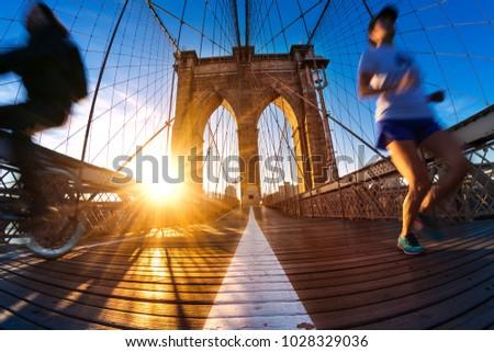 Brooklyn bridge in morning