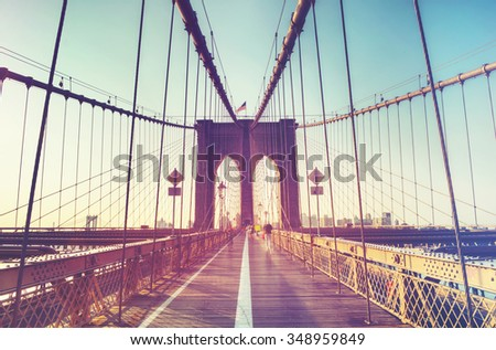 stock photo brooklyn bridge in new york city usa 348959849 - Каталог — Фотообои «Мосты»