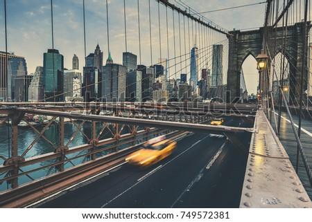 Brooklyn Bridge in NYC, USA.