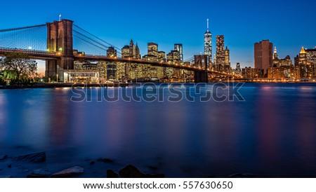 brooklyn bridge in the evening...