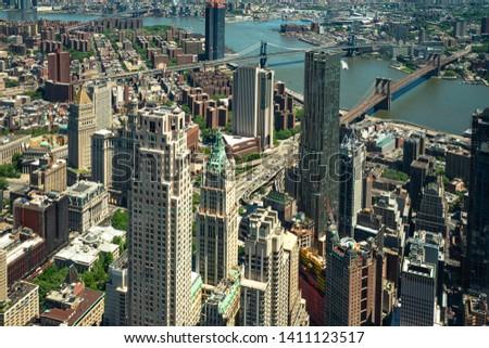 Brooklyn bridge, Manhattan bridge, Williamsburg bridge, Three important bridges in New York city. #1411123517