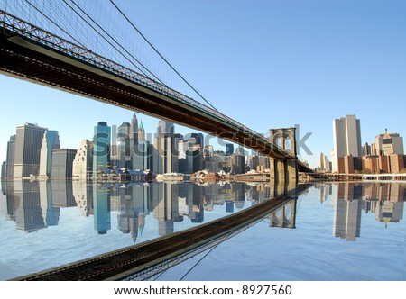 Brooklyn bridge to Manhattan