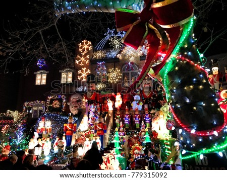 brooklyn new york december 20 2017 dyker heights christmas lights is the