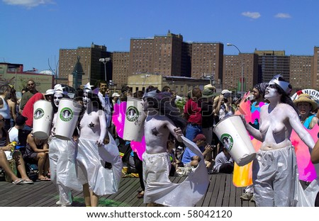 BROOKLYN, NY - JUNE 23: Participants of the annual Coney Island Mermaid Parade.  Image taken June, 23, 2007, Brooklyn, NY.