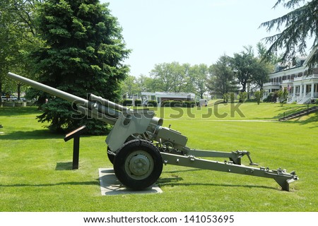 BROOKLYN, NY - MAY 31: 3-inch anti-tank gun M5 at Fort Hamilton US Army base in Brooklyn on May 31, 2013. Fort Hamilton is the only active military base in metropolitan New York