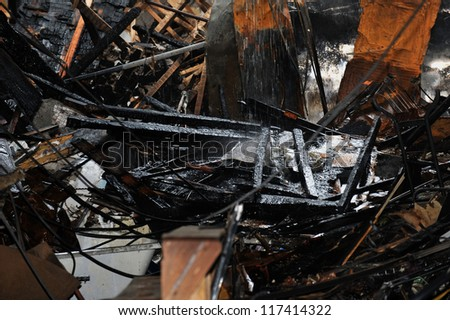 BROOKLYN, NY - NOVEMBER 01: Serious damage in the buildings from fire at the Brighton Beach neighborhood due to impact from Hurricane Sandy in Brooklyn, New York, on Thursday, November 01, 2012.