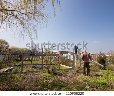 BROOKLYN, NYC - MAR. 18:  Community garden at Floyd Bennett Field in Brooklyn, NY on Mar. 18, 2012. This historic airfield is home to Brooklyn's largest community garden. - stock photo