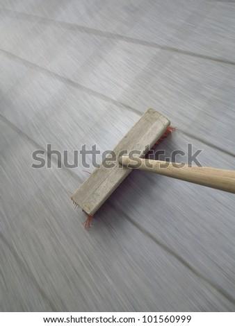 broom sweeping  - long exposure time
