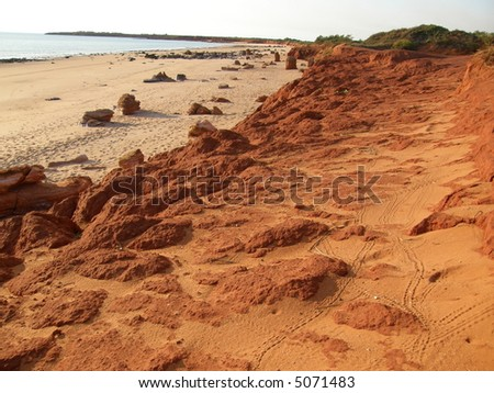 broome, western australia, beach - stock photo