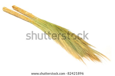 Brooms made of dried grass flower
