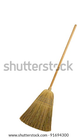 broomstick isolated