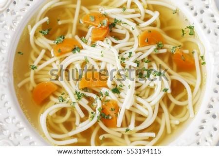 Broth soup #553194115