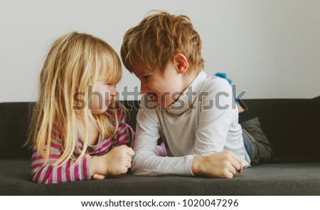 brother and sister rivalry, dispute, anger, disagreement #1020047296