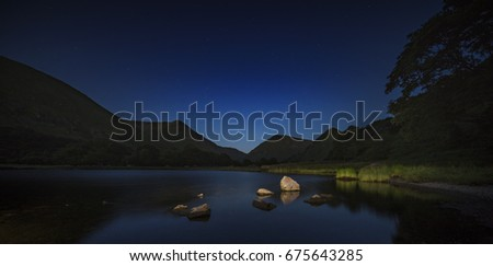 Brothers Water Lake at Night, Lake District National Park