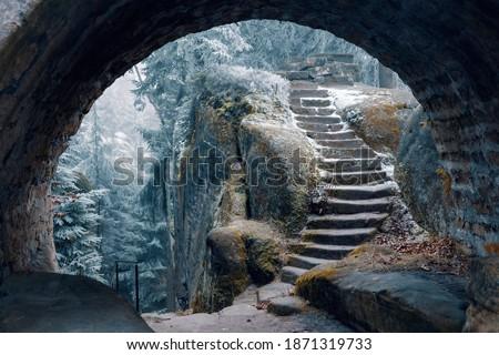 Broumovske Steny Mountains in Eastern Bohemia, Czech Republic Stock photo ©
